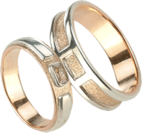Combined gold ring